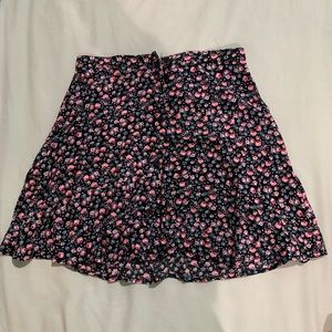 NWT pink floral skirt